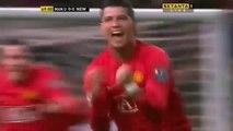 Cristiano Ronaldo 1st Hat Trick | Manchester United vs Newcastle (6-0) | 2007-2008