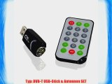 CSL - DVB-T USB 2.0 Fernseh Stick inkl. Fernbedienung und 30dB Stab-Antenne | Windows 7   Windows