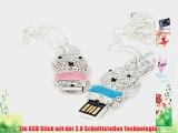 SUNWORLD 32GB Kaninchen Hase Schmuck USB-Stick Speicher mit k??nstlichen Diamantkristallen