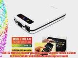 FANTEC MWiD25 Mobile WLAN Festplatte (extern 750GB 635cm (25 Zoll) WLAN USB3.0 LAN Akku integriert)