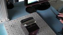 Fiber laser marking on stainless steel, shining surface China fiber laser marking machine