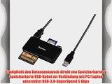 Hama Kartenleser Slim UDMA/UHS-I f?hig (u.a. microSD/SDHC SD/SDHC CF Typ I MMC USB 3.0) schwarz