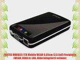 FANTEC MWiD25 1TB Mobile WLAN 635cm (25 Zoll) Festplatte (WLAN USB3.0 LAN Akku integriert)