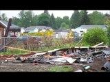 Man bulldozes neighbor's house over property dispute, Port Angeles, Wa
