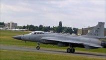 JF-17 Thunder Pakistan Air Force solo display Paris Air Show 2015