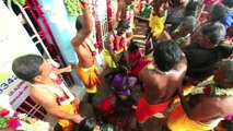 Coconuts SMASHED over devotees' heads in Indian holy festival