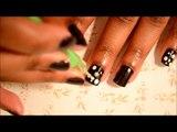 Nail It [5]: Violet & White Polka Dots