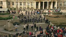 "British Army musicians flash mob: ""All Together Now"" in Victoria Square, Birmingham, 5 Nov 2014"