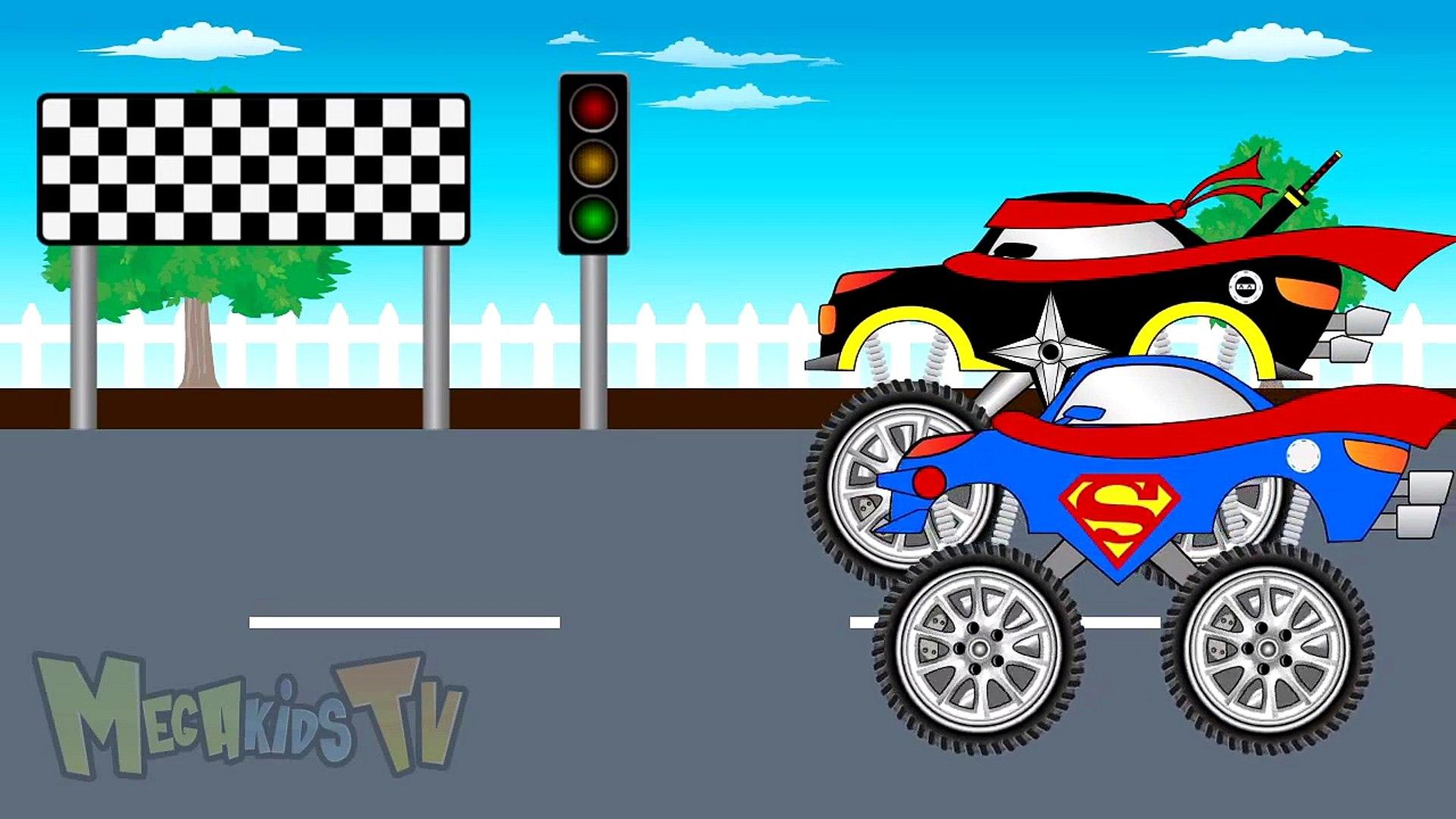 Superman Truck Vs Ninja Truck - Truck for kids - Mega Kids Tv
