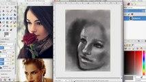 sketch-beauty and the beast emma watson