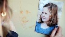 Pastel portrait, Portrait painting process, Making a Pastel portrait
