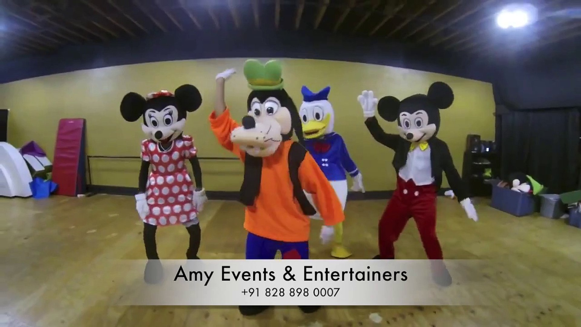 cartoon characters for fun activity  birthday event kids party on rent - Amy Events & Entertaine