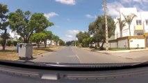 conduite en ville au Maroc: traversée de Kenitra