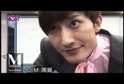 Eunhyuk cutely clings on Zhoumi - Super Junior M Yahoo! Taiwan