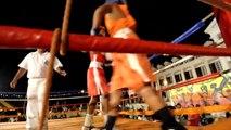 Soirée boxe entre jeunes à Pirae, Tahiti