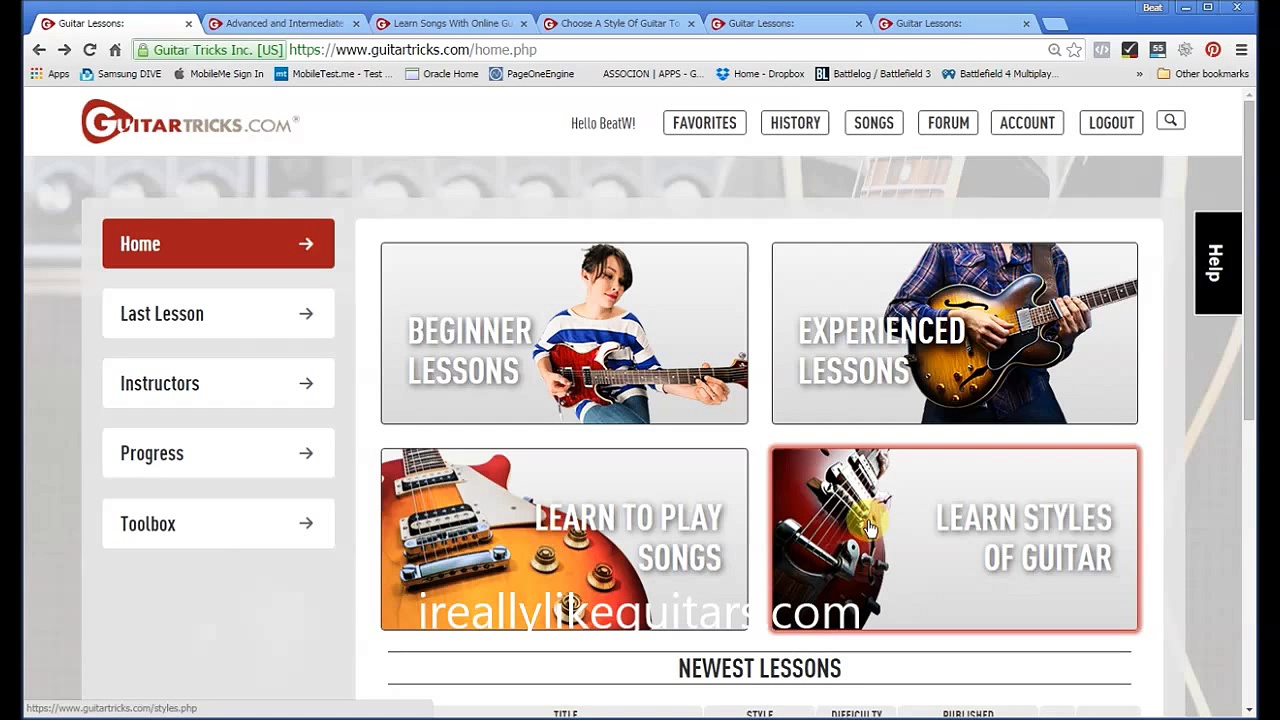 Guitar Tricks Review 2015 User Interface Upgrade Walk-Through