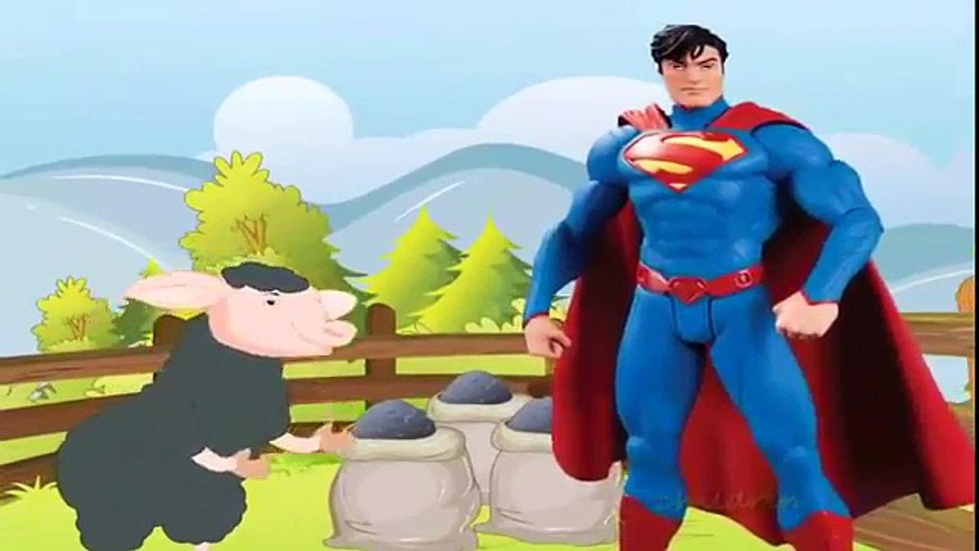 Superman Ba Ba Black Sheep Nursery Rhyme | Collection Of Ba Ba Black Sheep Rhymes