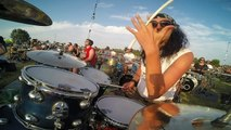 """Alex Galanti @ Rockin1000, plays """"Learn to Fly"""" drum cover, drummers view (GoPro)"""