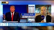 """Etats-Unis: """"Donald Trump a assuré le spectacle dans ce débat"""", selon Jean-Bernard Cadier"""