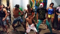 Little boy breaks out sick dance moves on the streets of Brazil 2014