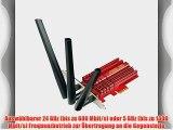 Asus PCE-AC68 AC1900 Dual-Band Wi-Fi PCIe-Karte (802.11 a/b/g/n/ac PCIe 1x 3x externe Antennen