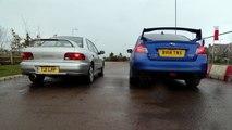 Subaru Rev-Off: First-Gen Impreza Turbo 2000 Vs Current WRX STI