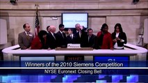 27 Jan 2011 Winners of 2010 Siemens Competition rang the NYSE Closing Bell