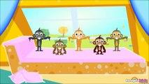 Cinq Petits Singes | Comptines Pour Enfants | Learn French