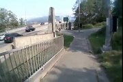 Second Narrows Bridge Cycling Helmetcam