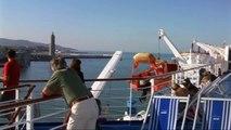 Met Moby Lines van Livorno naar Bastia - Vertrek en aankomst, 20 juli 2012