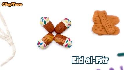 كعك عيد الفطر بالصلصال  POLYMER CLAY TUTORIAL - Eid al-Fitr SWEETS