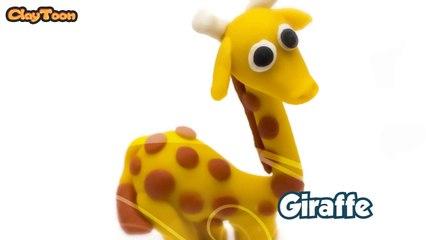 Giraffe, Polymer clay tutorial  زرافة , تشكيل صلصال
