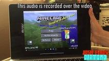 HP Stream 7 running Minecraft Windows 10 Edition Beta (x86
