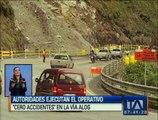 """Autoridades ejecutan operativo """"cero accidentes"""" en la vía Aloag–Toachi"""