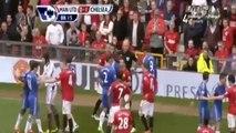 David Luiz laughing after Rafael Red Card and Sent Off (05/05/2013) David Luiz v Rafael CLASH!