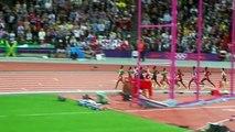 2012 London Olympics 10k, Mo Farah wins! (Last 3 laps)