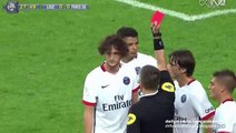 Adrien Rabiot Red Card(Dismissal) HD- Lille v. Paris Saint-Germain - Ligue 1 07.08.2015