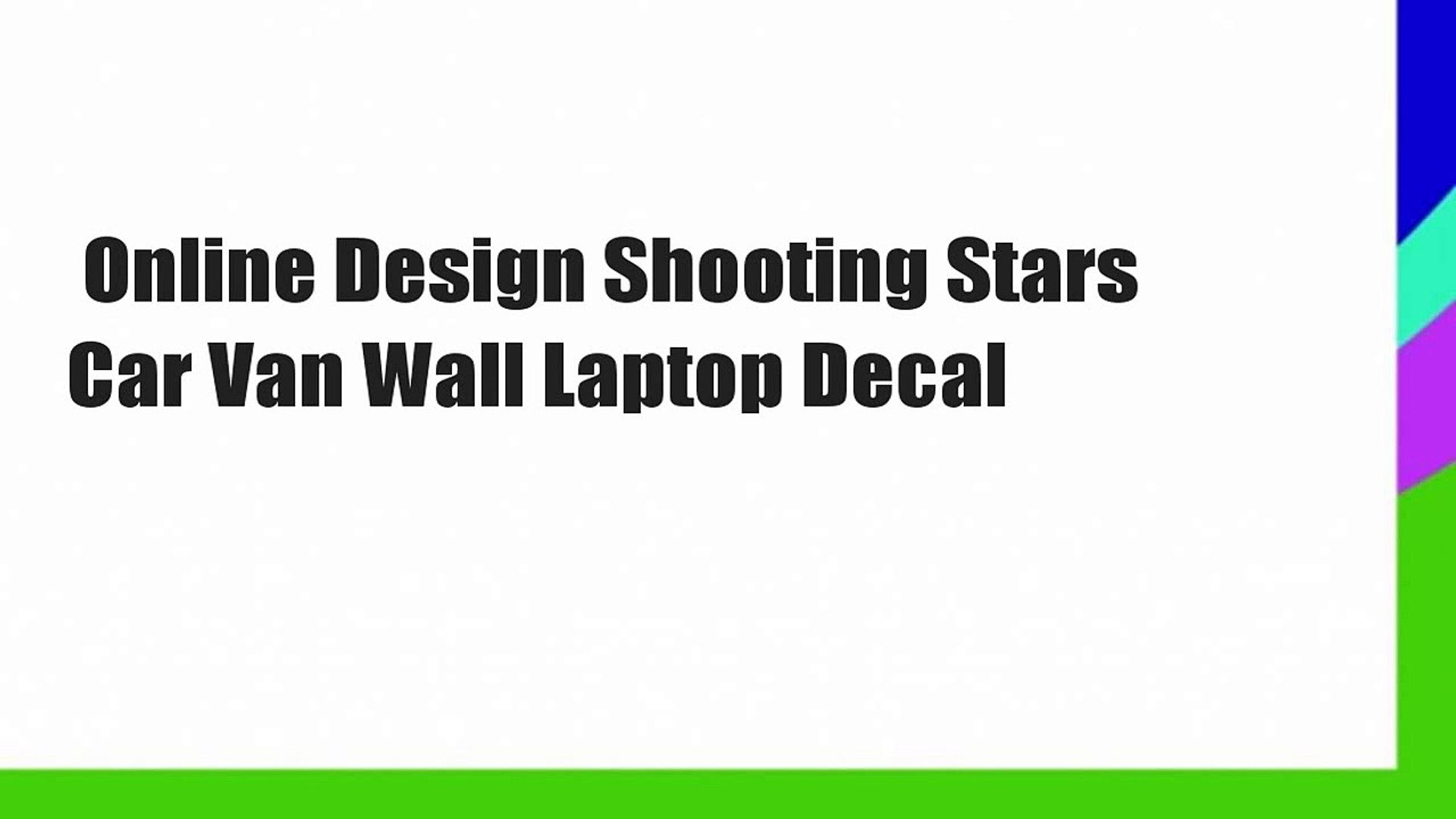 SHOOTING STARS CAR VAN WALL LAPTOP DECAL STICKERS