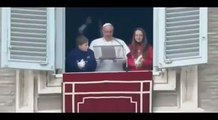 Una gaviota y un cuervo atacan una paloma por la paz de Ucrania del papa Francisco
