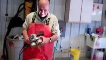 PadHead™ polishing & grinding head Model II on an Angle Grinder