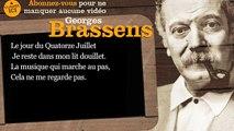 Georges Brassens - La mauvaise réputation - Paroles ( karaoké )