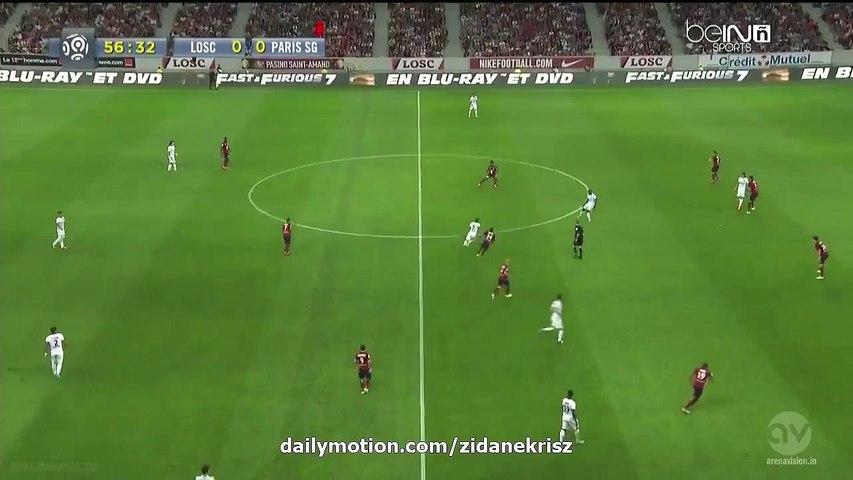 Lucas Moura 0-1 HD - Lille v. Paris Saint-Germain - Ligue 1 07.08.2015 | Godialy.com