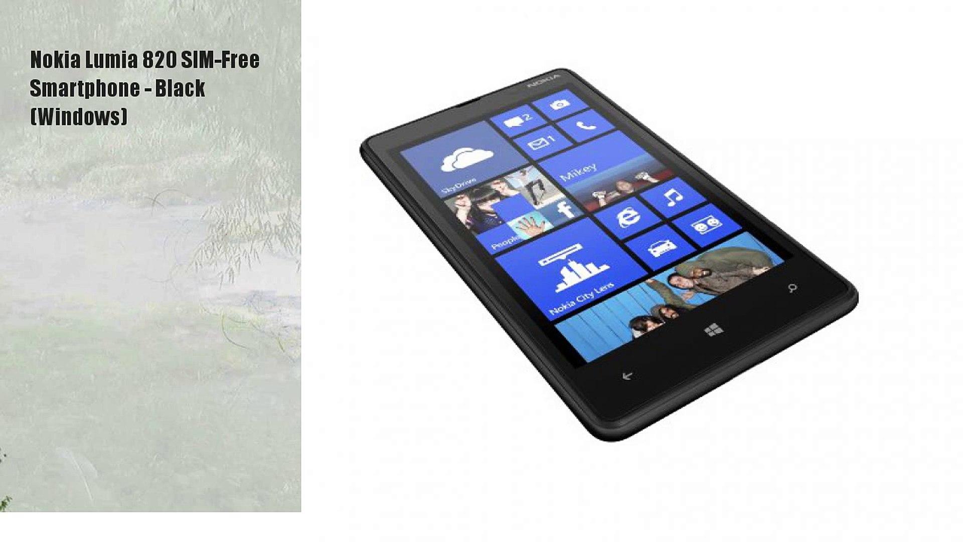 Nokia Lumia 820 SIM-Free Smartphone - Black (Windows