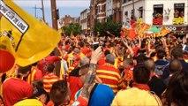 Lens - Red Star : des milliers de fans lensois défilent vers Bollaert-Delelis