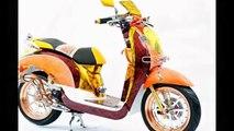 Motor Trend Modifikasi   Video Modifikasi Motor Honda Scoopy Airbrush Batik Terbaru