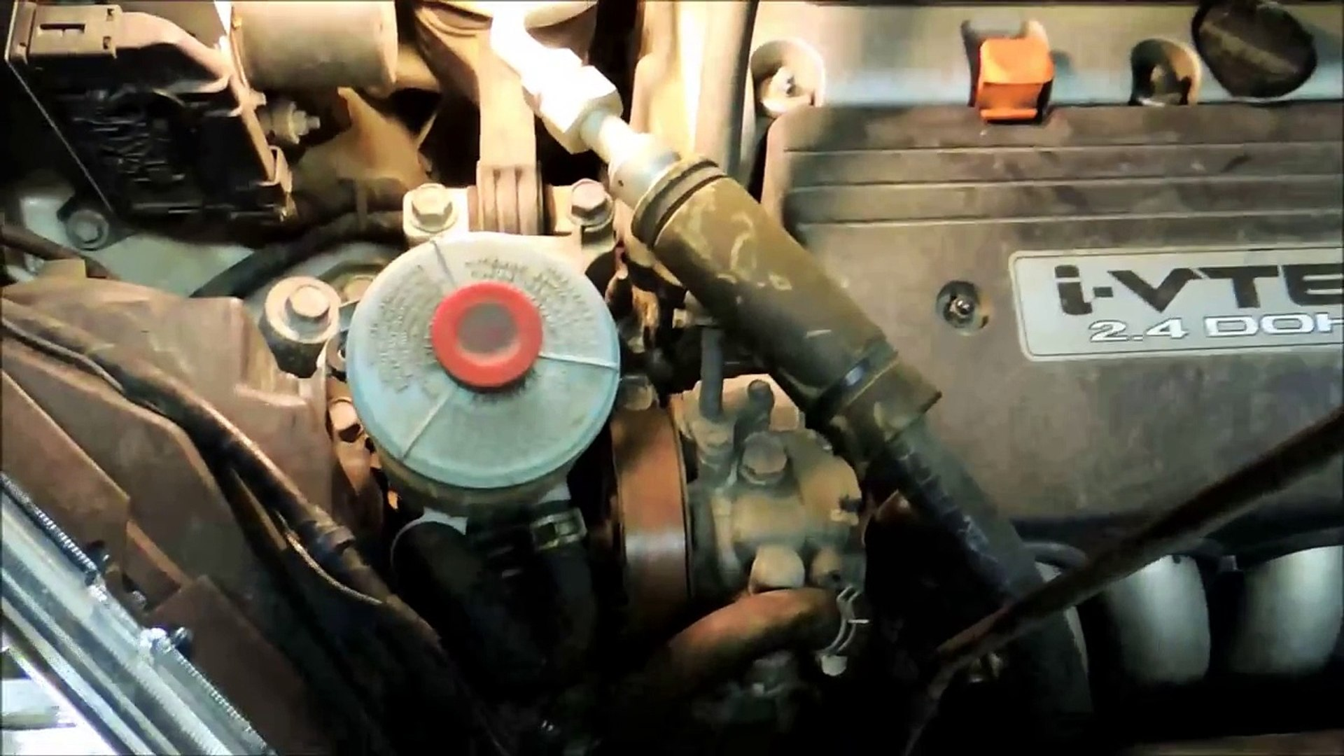 honda cr-v serpentine belt installation 2007 - 2011 in a half hour with no  special tools - video dailymotion