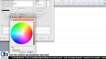 Créer des couleurs personnalisées sous word
