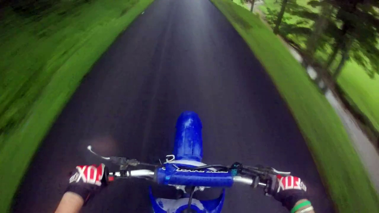 Riding my dirt bike