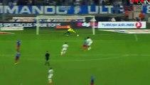 Benjamin Mendy Fantastic Shot hits the post - Marseille vs Caen Ligue1 08.08.2015