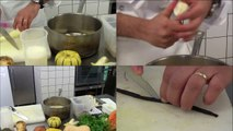 Recette : coquilles Saint-Jacques et légumes oubliés (restaurant Aux Pesked, Saint-Brieuc)